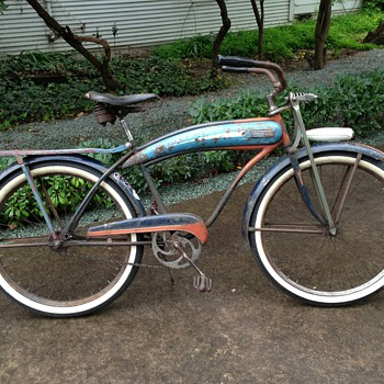 1940's Dayton Huffman Men's Cruiser Tank Bike - Outdoor Sports