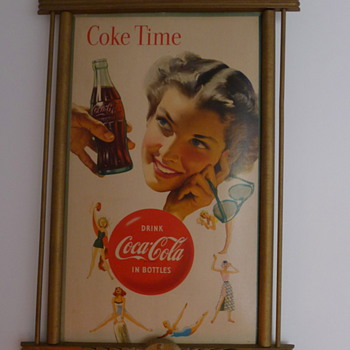 1953 Coca Cola cardboard