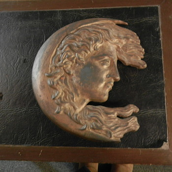 decorative  bronze moon lady