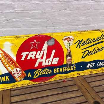 1950's Tru Ade Embossed Tin Sign