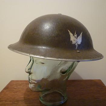 British WWII Naval steel helmet.