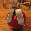 Large Vintage Crackled Glass Christmas Ornament