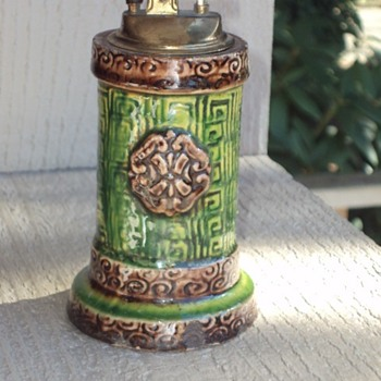 Lighter - majolica ceramic pottery