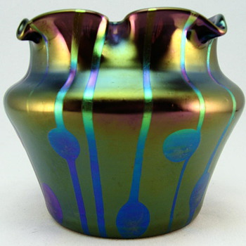 "Loetz ""Streifen und Flecken"" bowl, Robert Medeu & Co., Berlin - Art Glass"