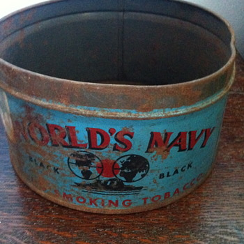 World's Navy plug smoking tobacco.