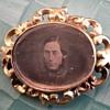 Creepy Daguerreotype Picture Brooch