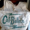 RARE! SF Call Bulletin Newspaper Pre-1960's Canvas Paperboy Delivery Saddle Bag
