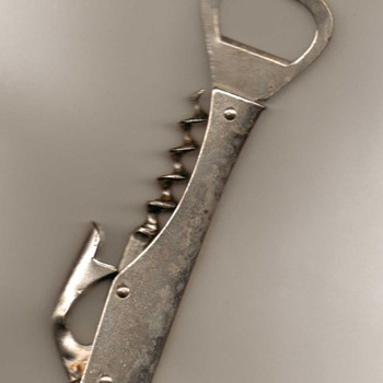 Eberle Bottle Opener / Corkscrew - Breweriana