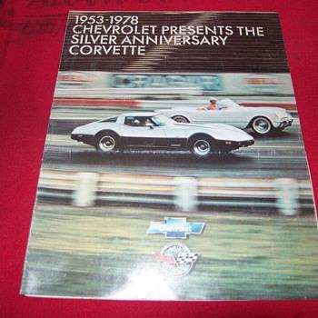 1978 Corvette Silver Anniversary Sale Brochure