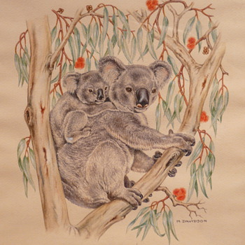 KOOKABURRA &amp; KOALA - M. DAVIDSON