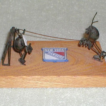 NY Rangers Metal Art - Hockey