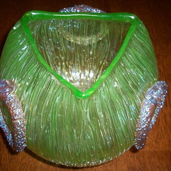 Loetz Green Empire Vase (re-post). - Art Glass