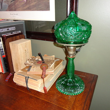 My favorite Green Glass, Dasiy & Button lamps