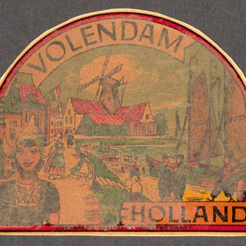Travel Decal - Volendam Holland - Advertising