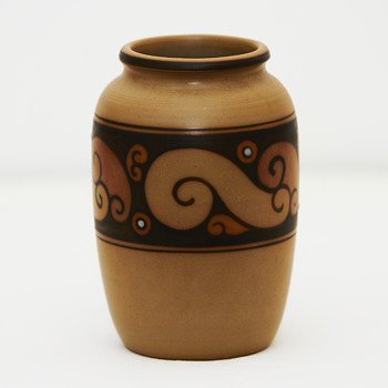 Unglazed L. Hjorth vase, ca. 1920 - Art Pottery