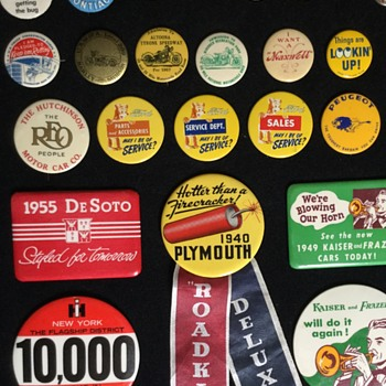 Collection of  Transportation Pinback Buttons - Medals Pins and Badges