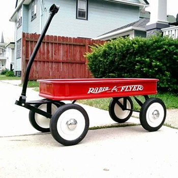 Late 1940's Radio Flyer Full Size Coaster Wagon  - Toys