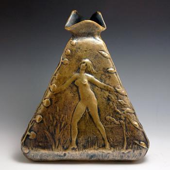 1898 Paul Moreau Vauthier Symbolist Bronze Vase - Art Nouveau