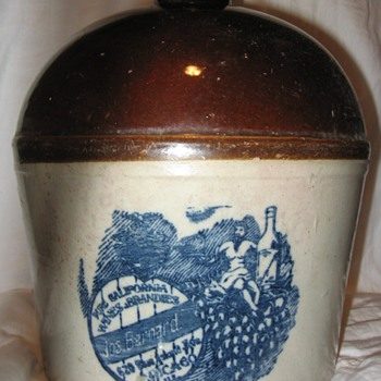 one gallon wine jug - Pottery