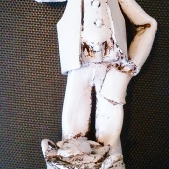 FISHMONGER CERAMIC FIGURINE MADE IN ITALY