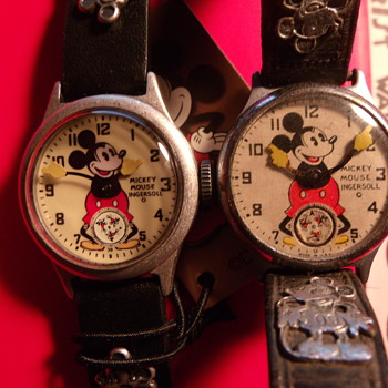 The 30's Collection Remake of 1933/34 Mickey Mouse Watch by Ingersoll - Wristwatches