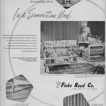 1950 Ficks Reed Furniture Advertisements - Advertising