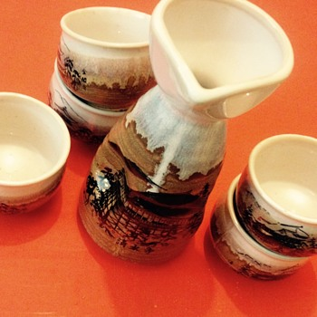 My mystery Mount Fuji Sake Set - Asian
