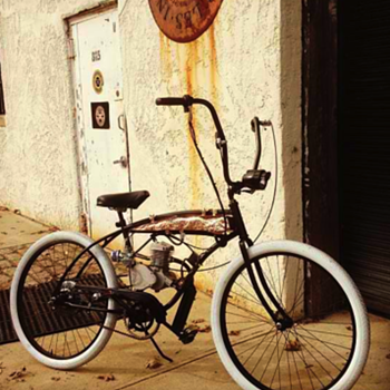 Vintage Schwinn re-pourposed with a motor by Copper Mike - Sporting Goods