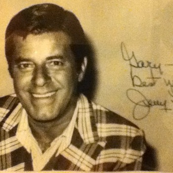 Signed Jerry Lewis Photograph