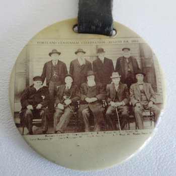 1913 Tin Photo Watch Fob