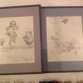 E.H. Shepard Winnie the Pooh Original Drawings - Visual Art