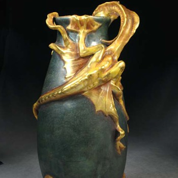 Amphora Sea Monster - Art Pottery