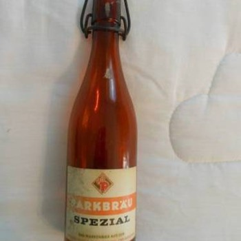 Amber Beer Bottle - Breweriana