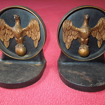 Vintage Iron Eagle Bookends