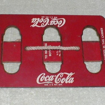 Coca Cola Wood Bottle Carrier