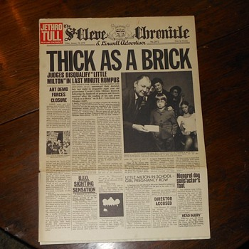 Jethro Tull Thick As A Brick Newspaper Album 1972
