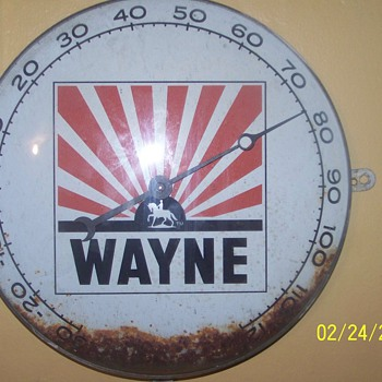 wayne feed thermometer - Advertising