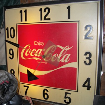 My Fathers Coke Clock - Coca-Cola