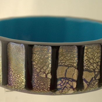 Bowl by Kurata 1960s - Art Glass