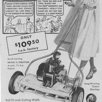 1950 Savage Arms Lawn Mower Advertisement - Advertising