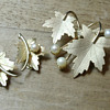 Sarah Coventry &#039;Precious&#039; satin goldtone demi parure