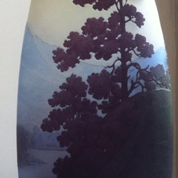 """Gallé vase, """"paysage des Vosges""""."""
