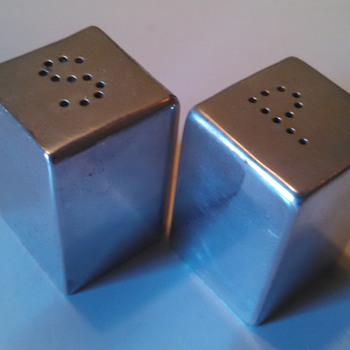 American Modern Salt and Pepper Shakers - Art Deco