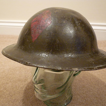 American 5th Infantry Division marked helmet.