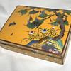 Vintage ANDO Japanese Cloisonne Enamel Box 1960s Fall Season Motifs
