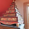 Asian pyramid chest of 6 drawers