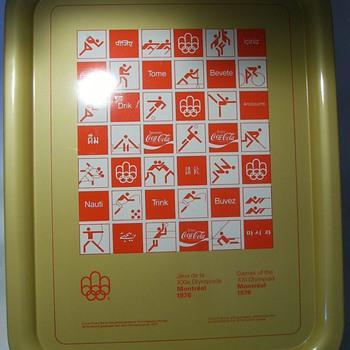 1976 COCA COLA Tray -- Olympics Montreal - Coca-Cola