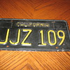 License Plate from the Movie Bullitt (stunt car) driven by Steve McQueen