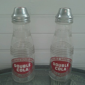 Double Cola Salt & Pepper Shakers - Advertising