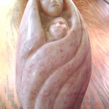 Adeline Chaddlestone, Kootenai tribe stone carving - Native American